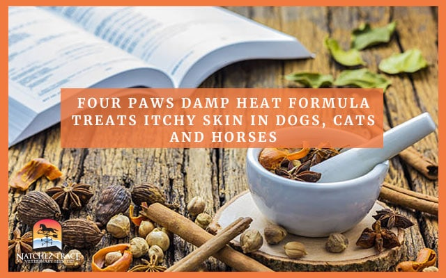 A Picture Of A Book And  Heat Formula That Can Treat Itchy Skin In Pets